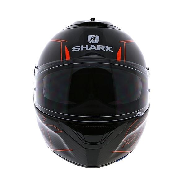 shark spartan carbon silicium motorcycle motorbike helmet black orange ebay. Black Bedroom Furniture Sets. Home Design Ideas