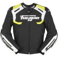 Furygan Akira Leather Jacket - Black / White / Fluo Yellow