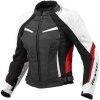 Rev'it Xena Ladies Leather Jacket - White / Red