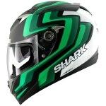 Shark S900C Foret Replica - Matt Black / Green / White