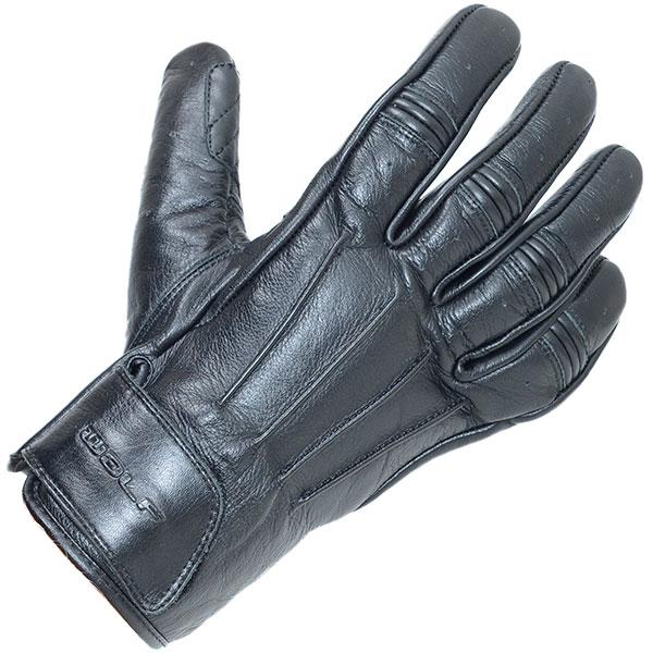 Image of Wolf Bulit Leather Gloves - Black
